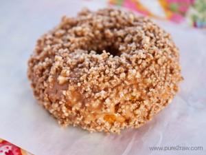 pecan pumpkin glazed donut